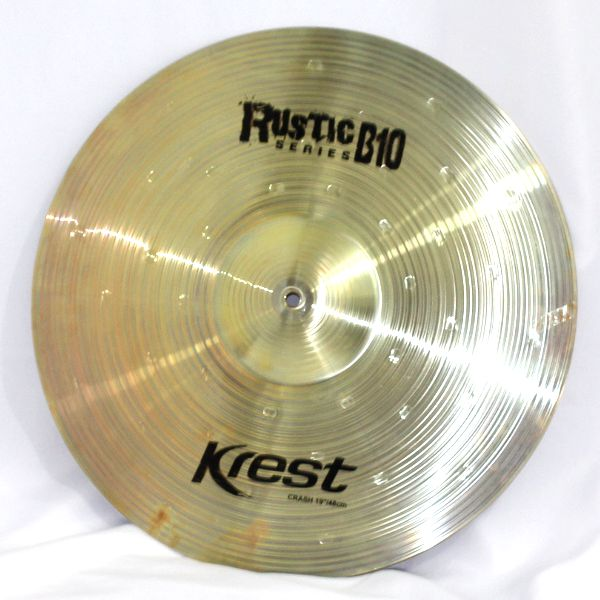 Prato Medium CRASH - Ataque - 19 Serie Rustic B10 da KREST CYMBALS Bronze B10