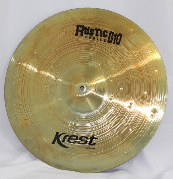 Prato Medium CRASH - Ataque - 20 Serie Rustic B10 da KREST CYMBALS Bronze B10