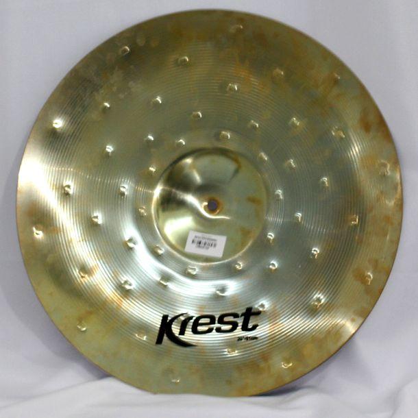 Prato Medium CRASH - Ataque - 20 Serie Rustic B10 da KREST CYMBALS Bronze B10