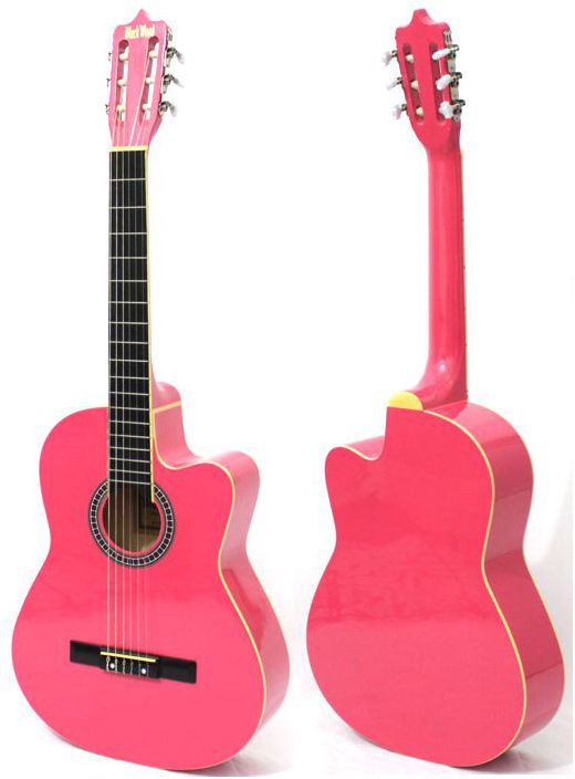 Violão Austin Clássico NYLON com CUT WAY MAG5 Rosa - BLACK Wood