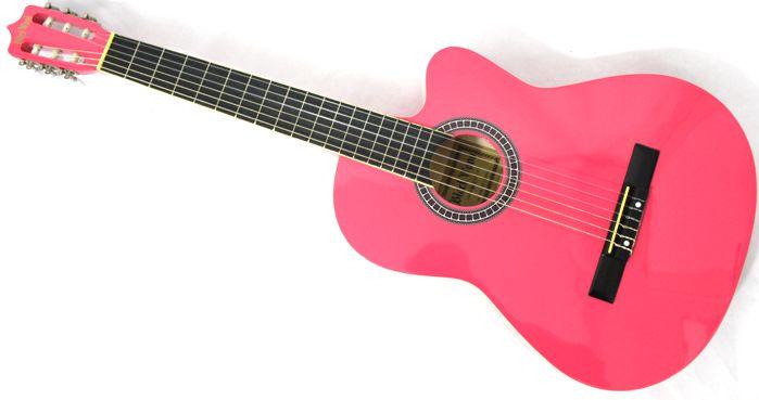 Violão Austin Clássico NYLON com CUT WAY MAG5 Rosa - BLACK Wood