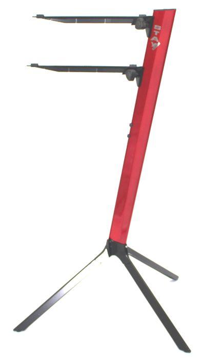Suporte STAY SLIM Aluminio para 2 Teclados 110CM de Altura com BAG Simples 1100/2 Vermelho SLIM