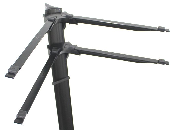 Suporte STAY SLIM Aluminio para 2 Teclados 110CM de Altura com BAG Simples 1100/2 Preto BK SLIM