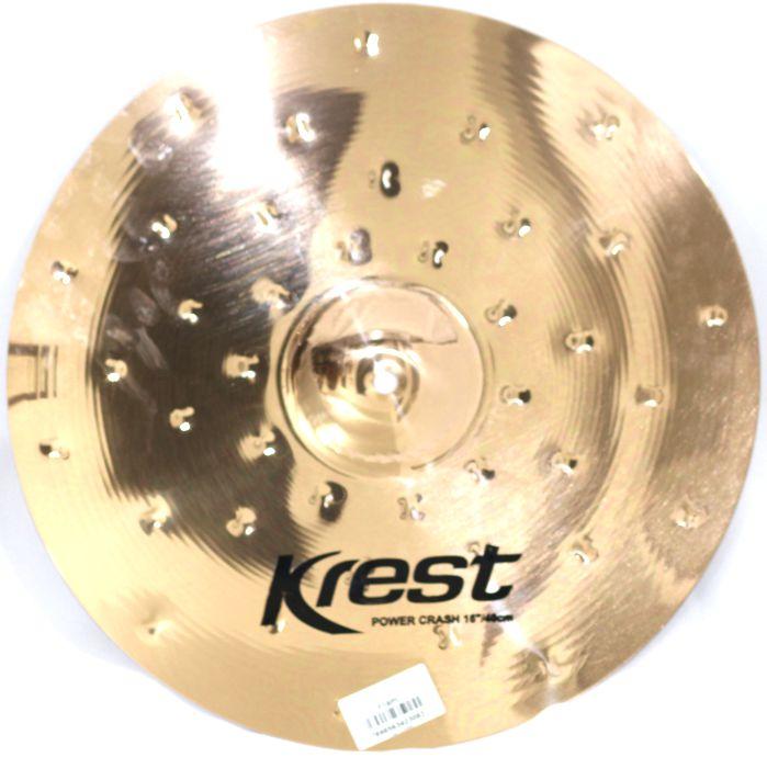 Prato Power CRASH - Ataque - 16 Serie Fusion da KREST CYMBALS Bronze B8