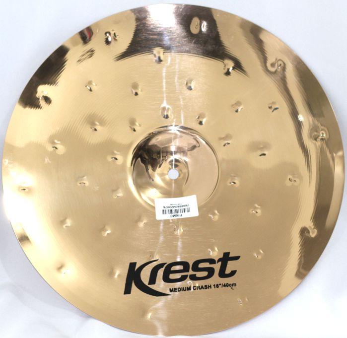 Prato Medium CRASH - Ataque - 16 Serie Fusion da KREST CYMBALS Bronze B8