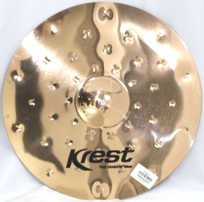 Prato THIN CRASH - Ataque - 16 Serie Fusion da KREST CYMBALS Bronze B8