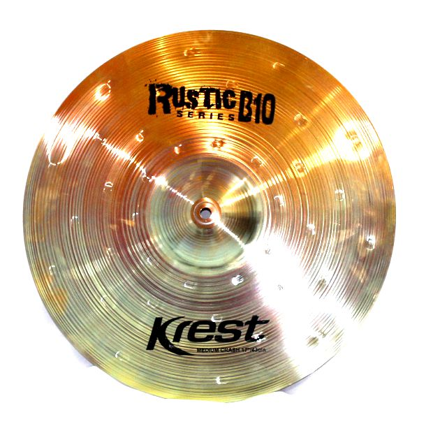 Prato Medium CRASH - Ataque - 17 Serie Rustic B10 da KREST CYMBALS Bronze B10