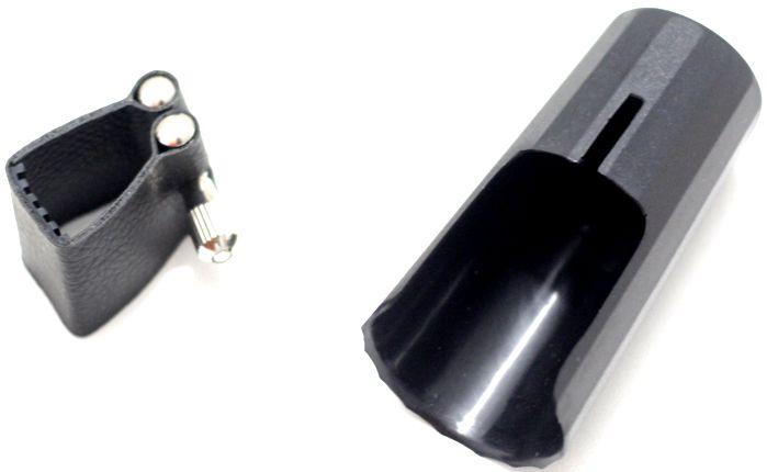Cobre Boquilha + Braçadeira de Clarinete em Couro com Ressonador Abraçadeira Custom
