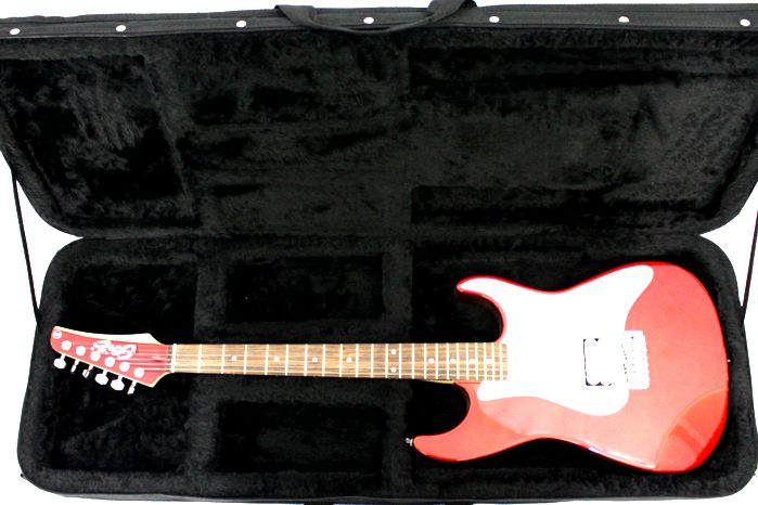 Case para Guitarra Retangular - em Espuma Expandida e NYLOM 600 Rover (apenas o Estojo)
