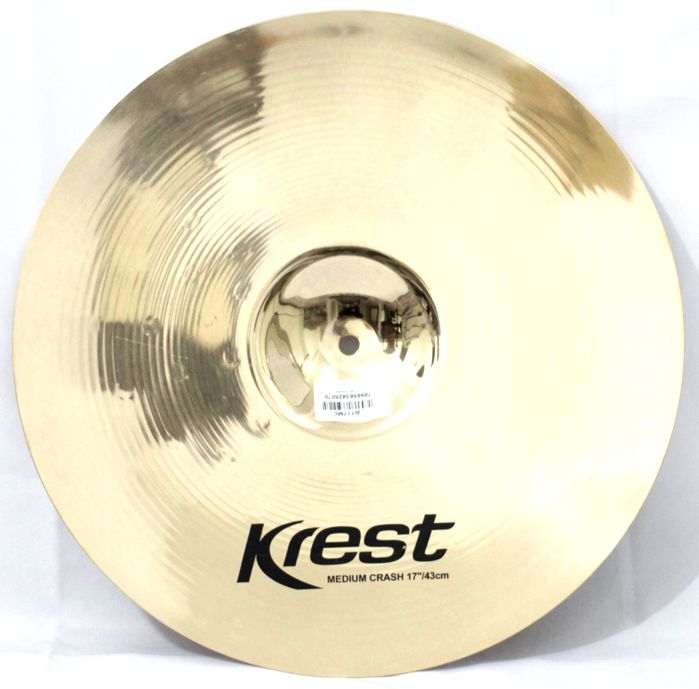 Prato Medium CRASH - Ataque - 17 Serie BRILLIANTB10 da KREST CYMBALS Bronze B10