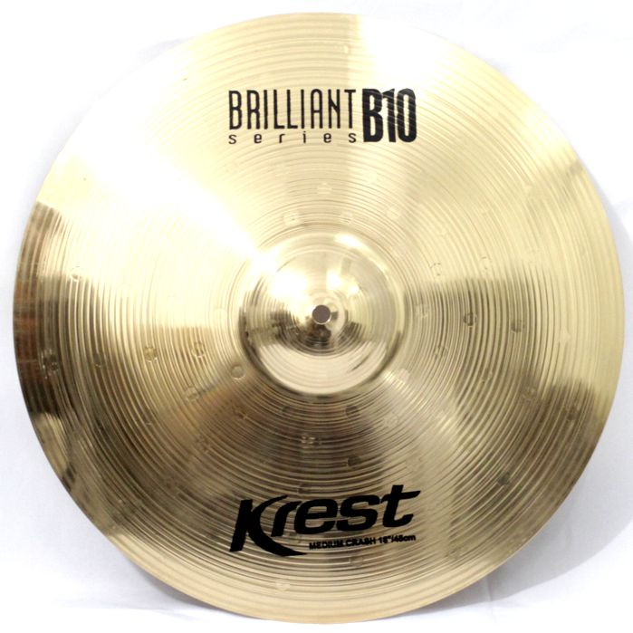Prato Medium CRASH - Ataque - 18 Serie BRILLIANTB10 da KREST CYMBALS Bronze B10
