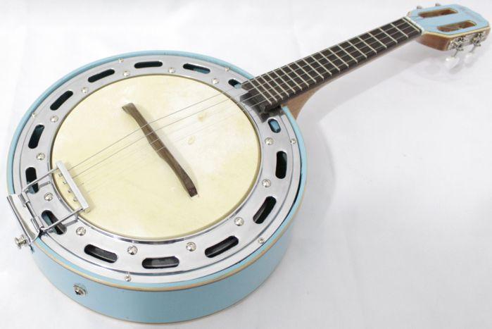 Banjo Rozini Studio AZUL Elétrico com Cápsula de Microfone RJ11ELA