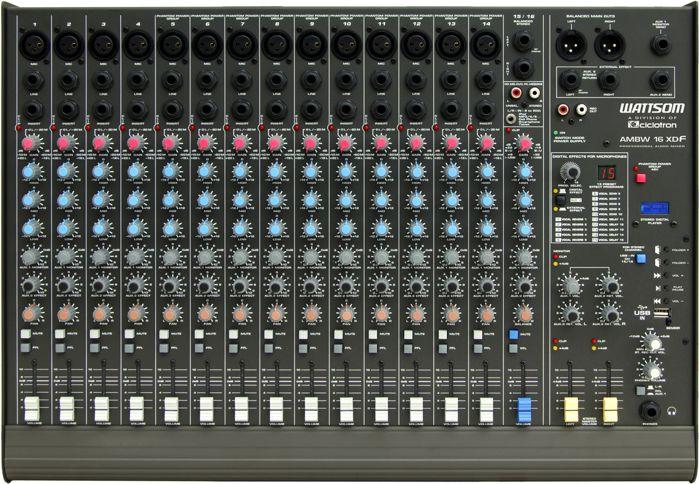 Mesa de Som Wattson com 16 Canais com Canal Balanceado + Processador Digital de Efeitos + USB com Controle Remoto - AMBW-16 XDF