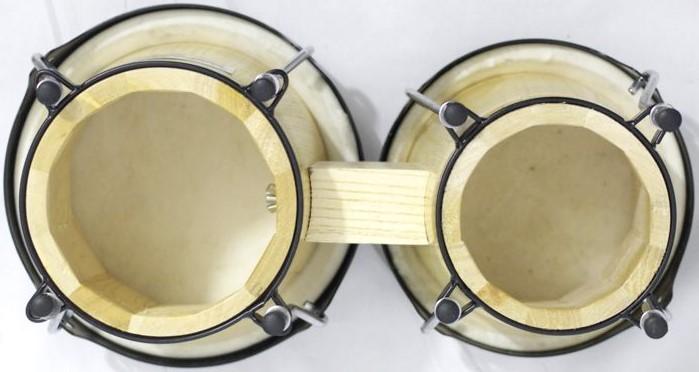 Bongo Madeira Pele Natural Médio de 6 e 7 Polegadas da Custom