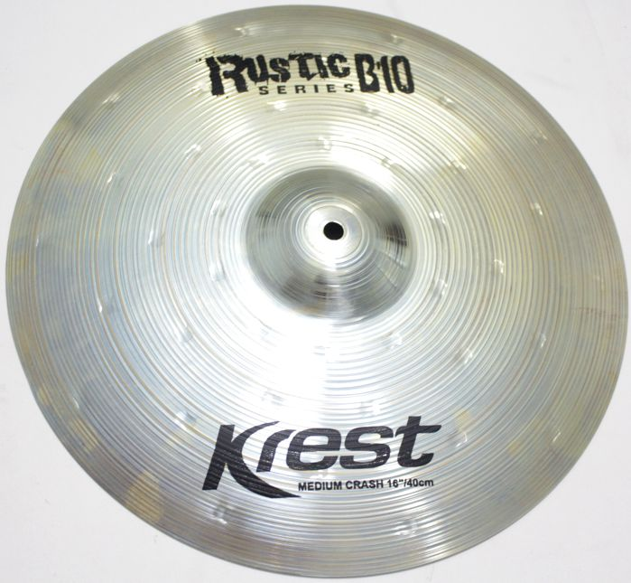 Prato Medium CRASH - Ataque - 16 Serie Rustic B10 da KREST CYMBALS Bronze B10