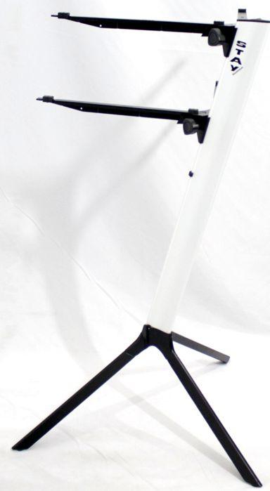 Suporte STAY SLIM Aluminio para 2 Teclados 110CM de Altura com BAG Simples 1100/2 Branco SLIM