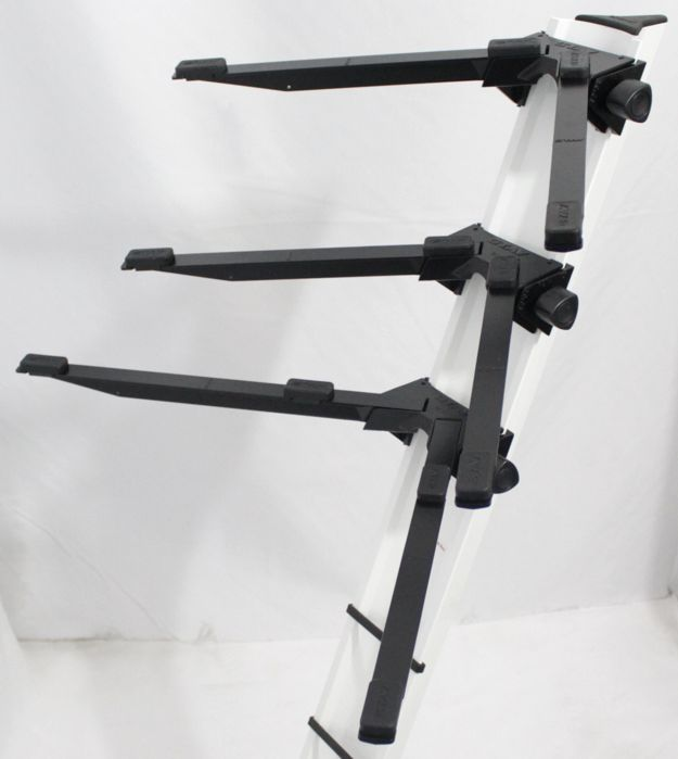 Suporte STAY Torre Aluminio para 3 Teclados 120 CM de Altura com BAG 1300/3 Branco