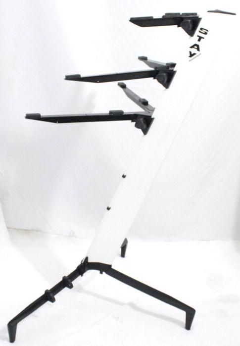 Suporte STAY Torre Aluminio 3 Bases - 2 Teclados e 1 Notebook - 120CM de Altura com BAG 1300/3 Branco