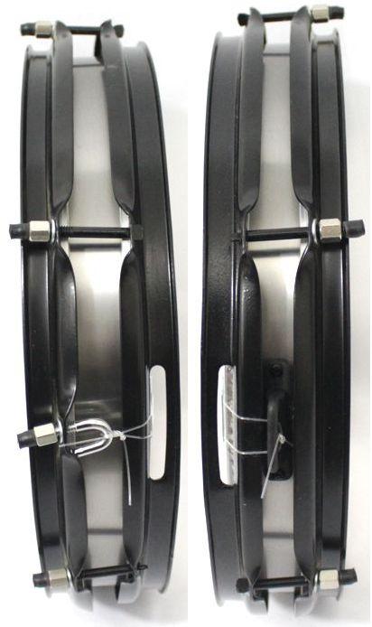 Caixa de Repique Samba e Guerra Luen 14 X 3 (polegadas) em AÇO Escovado com 6 Afinações e Esteira Fixa - 21083