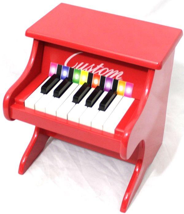 Piano Infantil Armário 13 Teclas - Piano de Armário de Madeira Pequeno Custom Vermelho