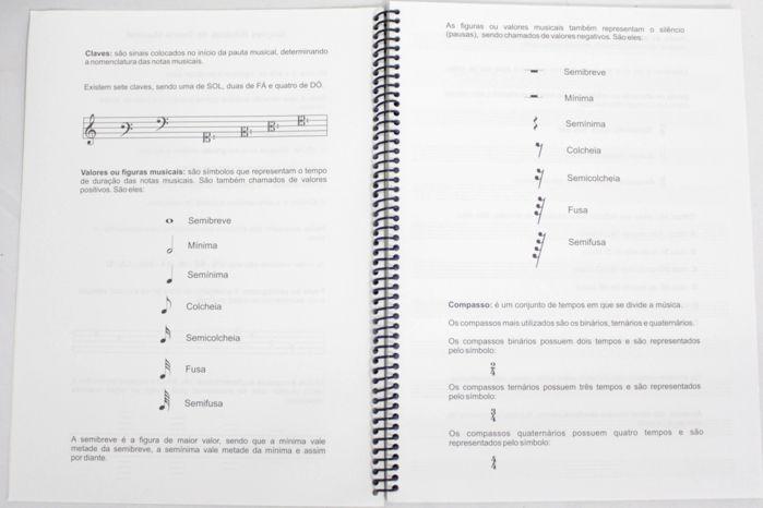 Caderno de Musica Grande 96 Páginas Universitário com Pauta / Pentagrama (48 Folhas)