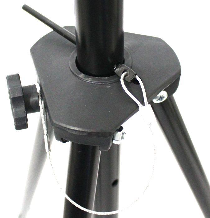 Pedestal para Caixa Acústica Visão Suporte Tripé em Ferro Preto PCA-SLIM - ATE 45 KG