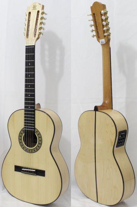 Viola Caipira Rozini Clássica Maple com PRÉ Fishman e com Case RV120ATN