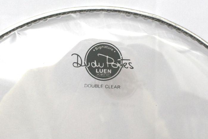 Pele de TOM e Caixa de Bateria 13 Double Clear - Dudu Portes - Luen - 11020