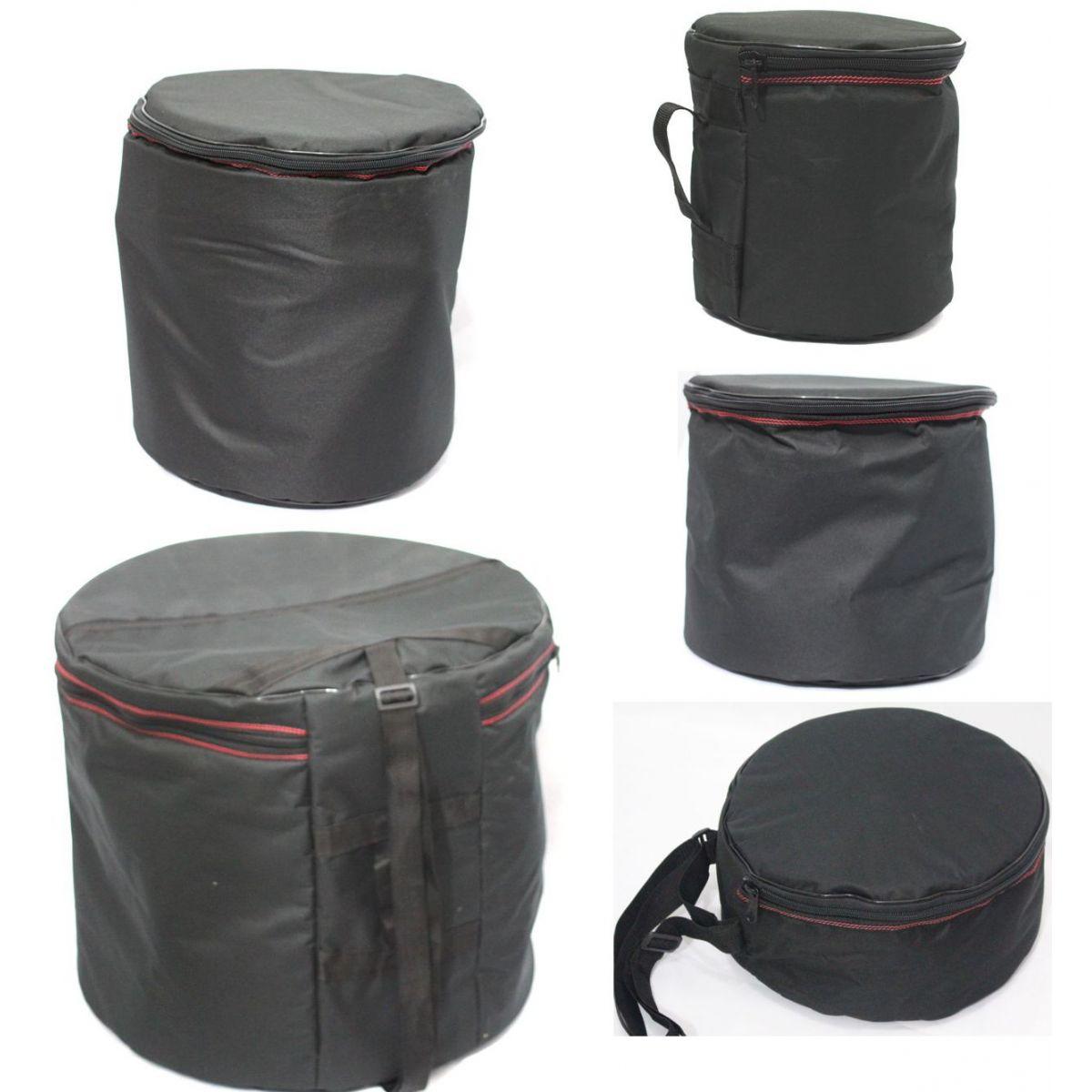 Jogo de BAG CRBAG para Bateria Luxo 5 Peças Estofadas Capas CRBAG Reduzido Fusion - Bumbo 22 (10+12+14+CX14)