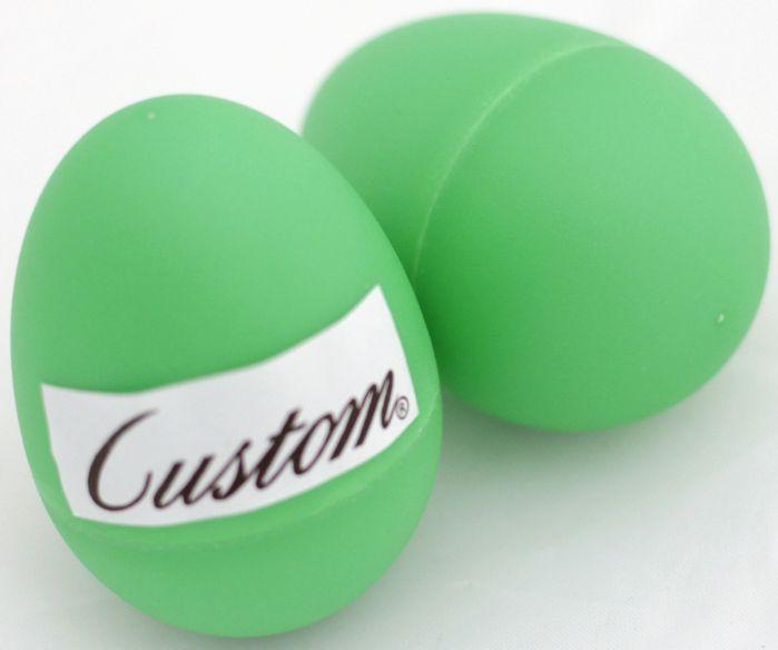 Ovinho Ganzá Custom - PAR - OVO Percussivo Verde