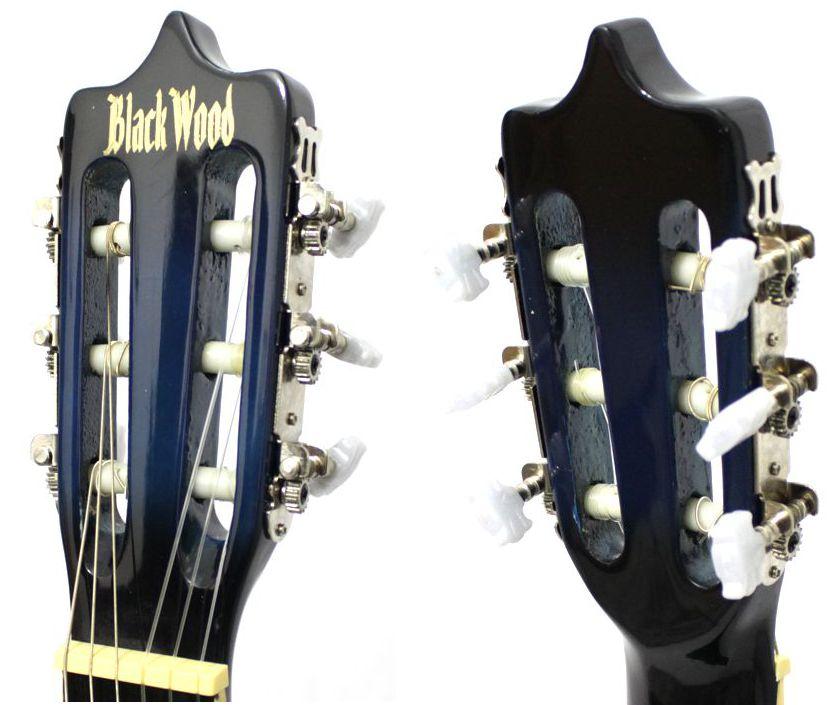 Violão Austin Clássico NYLON com CUT WAY MAG5 AZUL - BLACK Wood