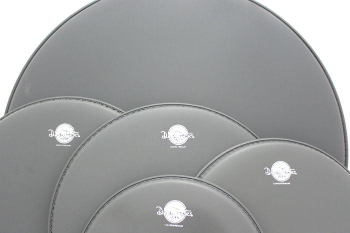 Jogo de Pele de Bateria - 10 - 12 - 14 - 14 - 22 - Coated Premium - Dudu Portes - Porosa - Luen - Reduzido Fusion 22 (bumbo 22)