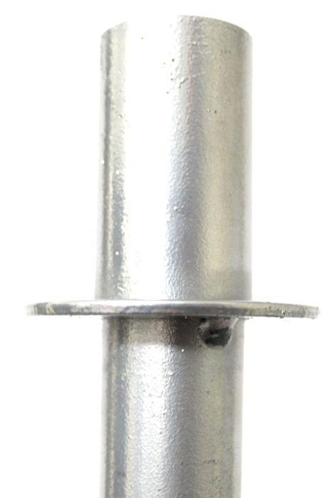 Pedestal para Caixa Acústica Ricci Suporte Tripé em Ferro Prata SLIM