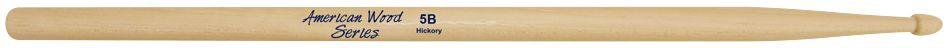 Baquetas 5B em Hickory Liverpool American Wood Ponta de Madeira HY 5BM