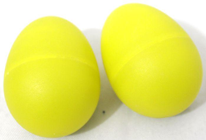 Ovinho Ganzá Custom - PAR - OVO Percussivo Amarelo