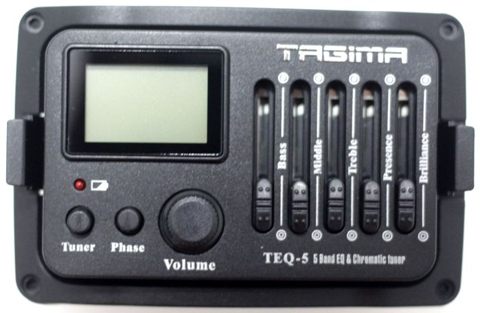 Captador de Violão Tagima TEQ-5 com Afinador e Equalizador 5 Bandas