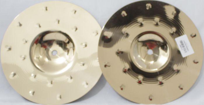 Prato HI-HAT - Chimbal - 10 Mini HAT Serie Fusion da KREST CYMBALS Bronze B8 - Pequeno de 10 Polegadas