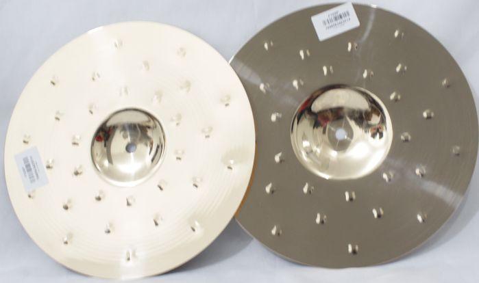 Prato HI-HAT - Chimbal - 12 Mini HAT Serie Fusion da KREST CYMBALS Bronze B8 - Pequeno de 12 Polegadas