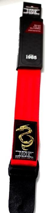 Correia IBOX para Baixo / Violão / Guitarra Modelo Design Dragão - Vermelha - C197V