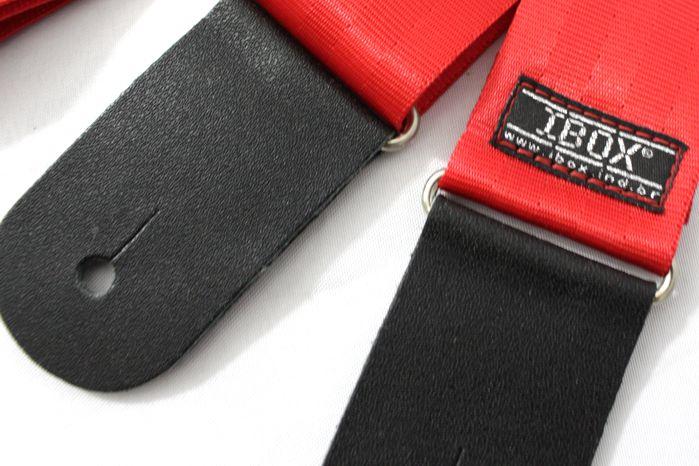 Correia IBOX para Baixo / Violão / Guitarra Modelo TREND - Vermelha - CT504