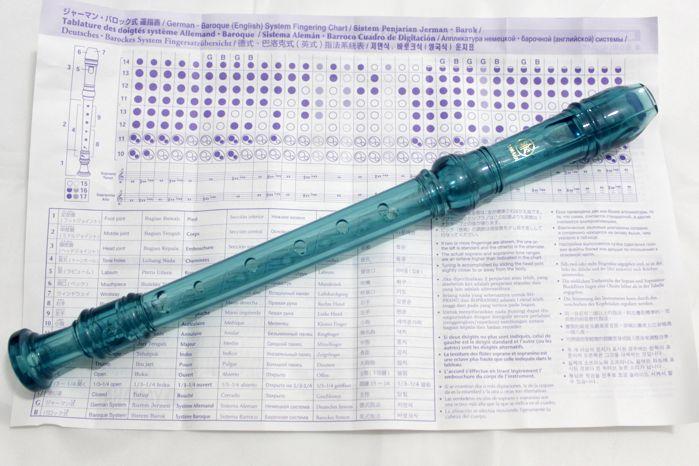 Flauta Doce Soprano Germânica Yamaha AZUL YRS-20G-B