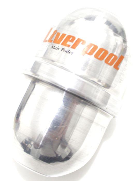 Ganzá Liverpool Aluminio Ovinho Chocalho Pequeno 8,6 X 5,3 CM - EG-02
