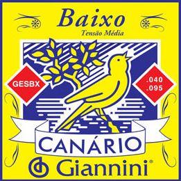 Encordoamento para Contra Baixo Canário Giannini 4 Cordas .040 - GESBX
