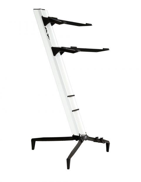 Suporte STAY Torre Aluminio para 2 Teclados 110CM de Altura com BAG 1100/2 Branco Torre
