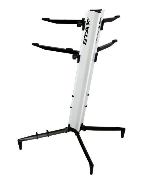 Suporte STAY Torre Aluminio 2 Bases - 1 Teclado e 1 Notebook - 120CM de Altura com BAG 1300/2 Branco