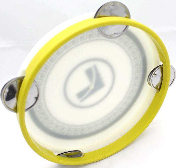 Pandeiro Infantil Luen 8 Todo em ABS ARO Amarelo