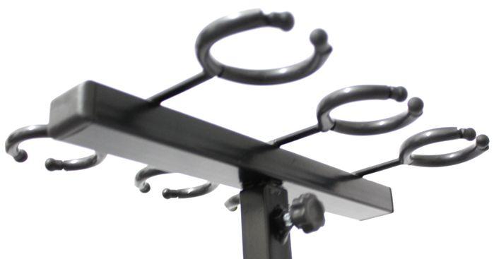 Pedestal para 6 Microfones - Suporte Tipo Descanso - Acácia