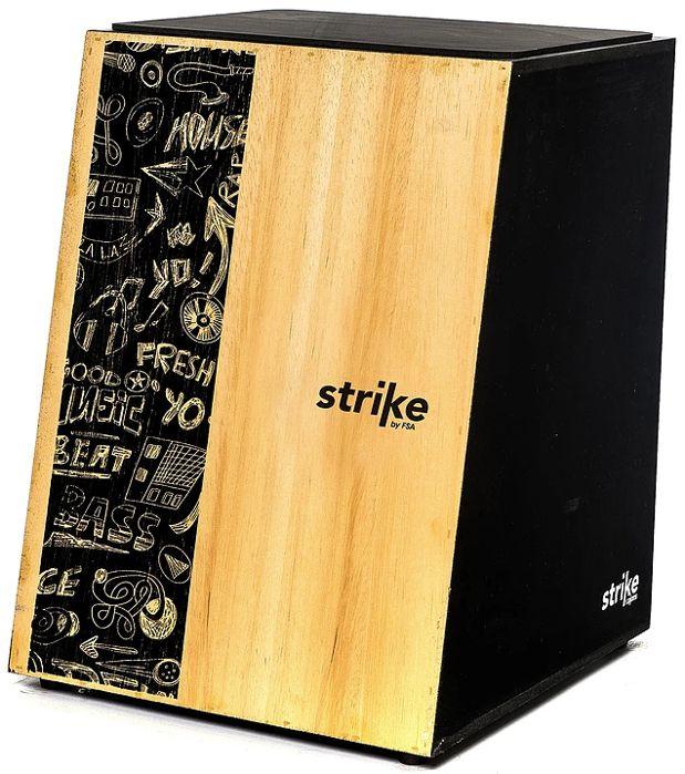Cajon FSA Inclinado Strike Music Acústico SK4001