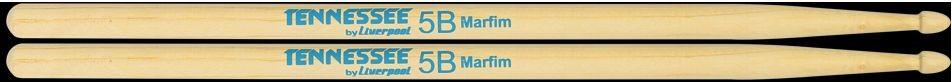 Baquetas 5B em Marfim Tennessee BY Liverpool Ponta de Madeira TN 5BM Pacote com 10 Pares