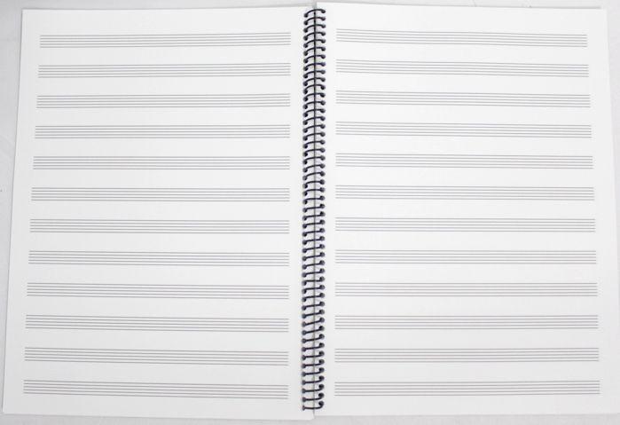 Caderno de Musica Grande 96 PÁGINAS universitário com Pauta / pentagrama (48 FOLHAS) - PACOTE COM 10 UNIDADES
